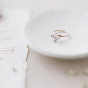 Clay ring dish wedding photographer prop